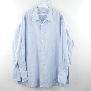 Charvet Microcheck French Cuff Dress Shirt Blue